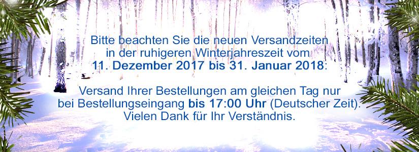 Winterzeiten 2017/2018